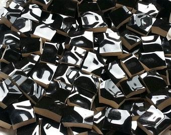 Mosaic Tiles-Black Honeycomb--100 Tiles