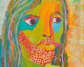 Abstract Jesus 8x10 art print