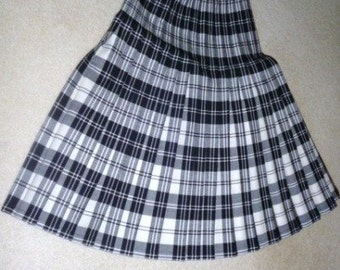 """Vintage Double Pleat Skirt from """"Slimma""""-England, circa 1975"""