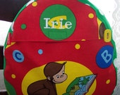 My Carrie Baby/Toddler Backpack made with Curious George Alphabet Fabric