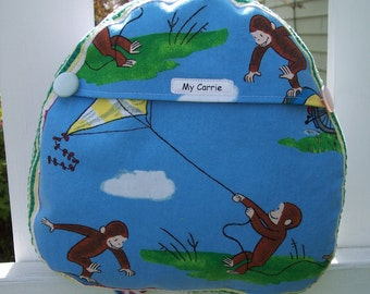 My Carries Baby/Toddler Backpack made with Curious George Flying a Kite Fabric