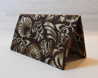 Checkbook Cover - Tropical Brown