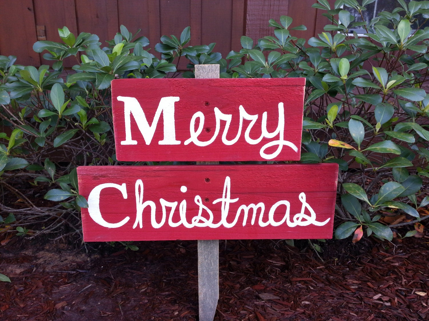 Merry christmas sign yard ornament welcome sign gift lawn for Outdoor christmas signs