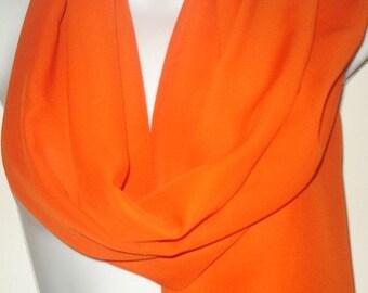 Tangerine Chiffon Scarf Wrap