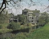 Vintage postcard, unused, Little Moreton Hall, Congleton, Cheshire, England, United Kingdom, 1979
