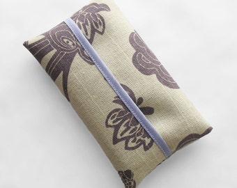 Tissue Holder - Purple Floral