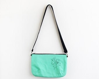 Mint canvas shoulder Bag
