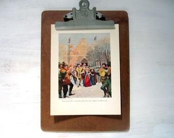 The Black Arrow - 1916 Childrens Story Book Illustration - Robert Louis Stevenson