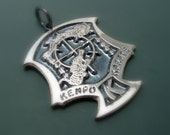 Solid Sterling silver Ed Parker Crest Pendant with chain or leather cord
