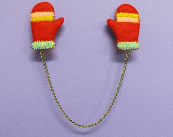 Mitten Collar Keepers in Red