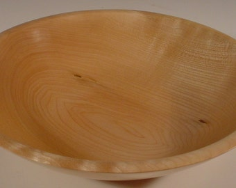Big Leaf Maple Wood Bowl Turned Wooden Bowl Number 5571