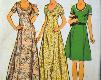 Vintage Sewing Pattern Simplicity 5967 Misses'  U Neck Dress Size 16 Bust 38 inches  Complete