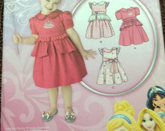 Sewing Pattern Simplicity 1671 Girl's  Dress Size 1/2 -4 Uncut Complete