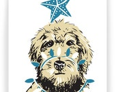 Labradoodle in Twinkle Lights - Set of 8 Holiday Cards