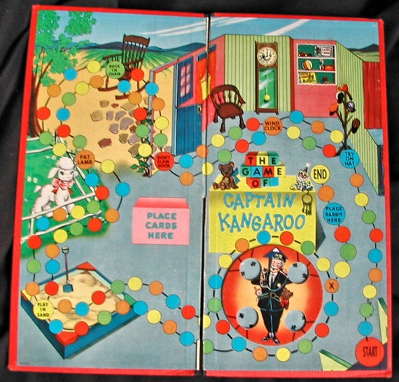 vintage captain kangaroo game board from classic tv show great. Black Bedroom Furniture Sets. Home Design Ideas