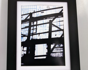 The Skeleton of a Structure - 8x10 Mixed Media Print (Unframed)