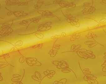 SALE Floret Lemon - New Leaf Collection - organic cotton fabric by Daisy Janie