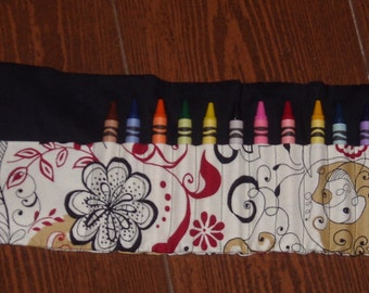 Inked crayon roll
