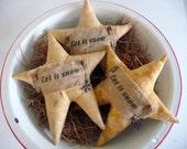 Primitive star tuck bowl filler ornie snowflake Christmas star