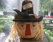 Primitive Scarecrow Halloween decoration Fall tuck