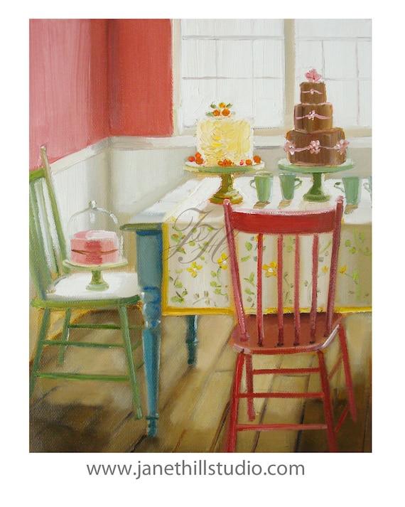 The Cake Enthusiast .  Art Print