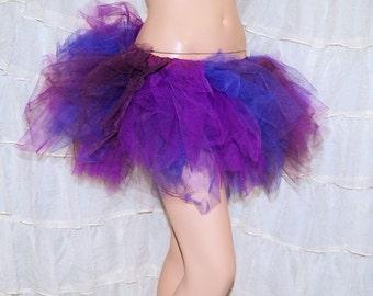 BONANZA Purple Burgundy Trashy Ragged TuTu Skirt Adult Small - MTCoffinz - Ready to ship