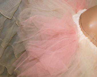BONANZA Peaches and Cream Trashy Ragged TuTu Skirt Adult Medium - MTCoffinz - Ready to ship