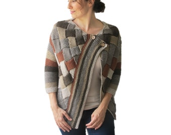 Colorful Cardigan Brown Beige Latte by Afra