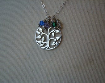Sterling Silver Family Tree Mother's Necklace