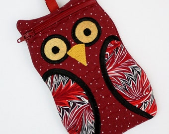 iPhone Case Owl iPod Touch case Burgundy Owl