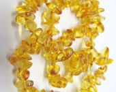 Genuine Baltic amber teething necklace,champagne polished amber beads
