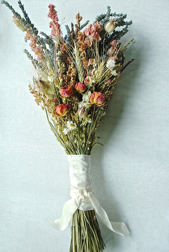 items similar to fall wedding brides bouquet of lavender