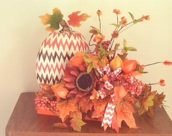 Autumn Fall Pumpkin  Arrangement