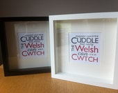 Cwtch Welsh Typographic Framed Artwork