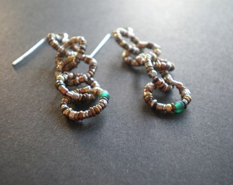 Linked Love Earrings - New Version - Ring O' Links - Chain Link - FREE SHIPPING