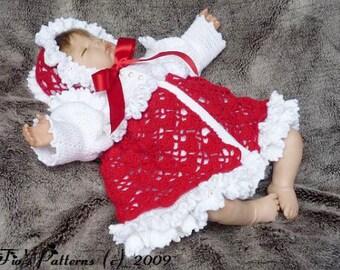 Crochet Pattern For Baby Matinee Jacket & Bonnet Crochet Pattern DIGITAL DOWNLOAD 114