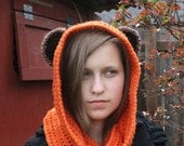 Ewok-Inspired Scoodie ~ Hat/Scarf
