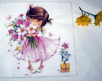 2 Napkins  from Holland little princess