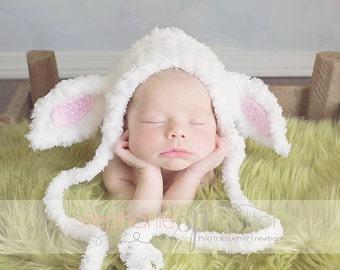 Lamb Bonnet-lil bo peep-Easter-Lamb Hat-Beanie-Newborn photograpy prop-baby costumes-animal hat