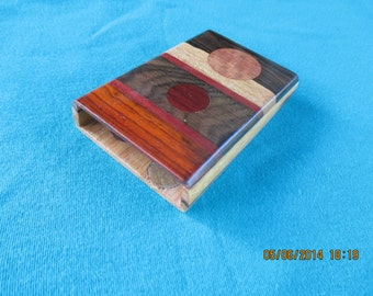 Handcrafted Multi-Wood Business Card case