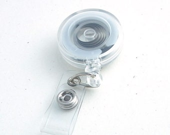 Clear Badge Reel - Belt Clip