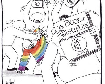 UMC Book of Discipline Cartoon PRINT