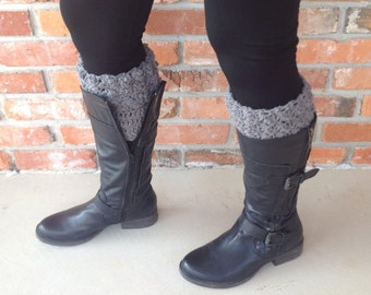 Gray Boot Cuffs Grey Boot Cuffs Boot Accessory