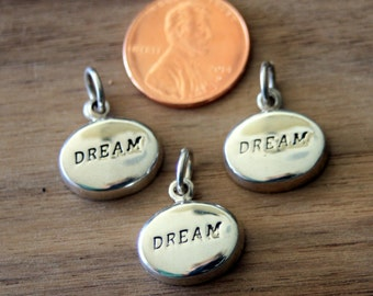 Sterling Silver Oval Dream Charm