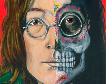 Day of the Dead John Lennon print