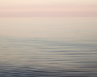 Abstract Seascape - Minimal Art - Pink Abstract Beach Art - Large Abstract Art Print - Seascape Photo - Bedroom Wall Decor - Lake Erie
