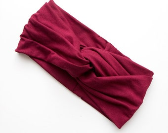Turban Headband // Turband // Hair Wrap // Twist Headband // Fabric Hairband // Claret // Wine Red // Burgundy // Maroon