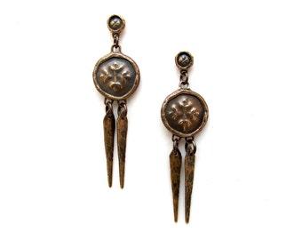 SALE // Medallion Earrings