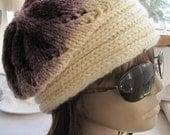 BIG DISCOUNT:Handknitted degrade yarn hat,beanie ,beret.OOAK