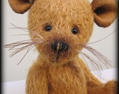 """SQUEAK - mohair artist teddy mouse KIT - 9"""" tall when completed"""